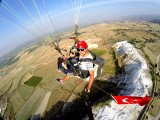 Paragliding above the ancient city of Hierapolis